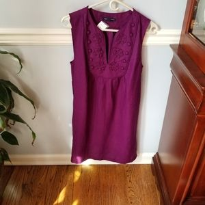 Banana Republic Plum Linen Dress NWT, size Medium